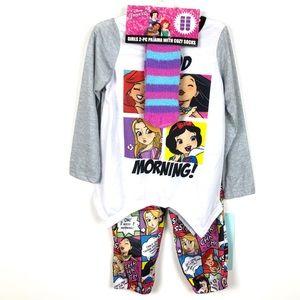 Disney Princess   Girls Cozy Pajama Set